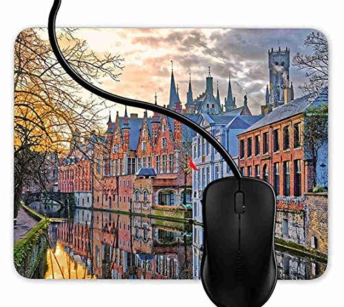 Preisvergleich Produktbild Mauspad Brügge Belgien Rutschfeste Gummi Basis Mouse pad,  Gaming mauspad für Laptop,  Computer 1F3315