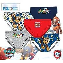 Suncity Pack de 5 slips diseño PATRULLA CANINA (Paw Patrol) (Nickelodeon) 5 diseños diferentes tallas 2/3, 4/5 y 6/8 años (100% algodon)