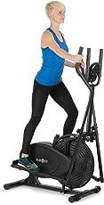 Klarfit Orbifit Advanced • Crosstrainer • Hometrainer • Ellipsentrainer • Trainingscomputer • Pulsmesser • Höhenverstellbar • Stahlrahmen • Softgriffe • Anti-Rutschpedalen • Max. 100 kg • Schwarz