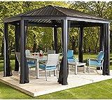 Aluminium Pavillon Überdachung Gazebo Komodo 12x18 // 363x546 cm (BxH) // Sommer-Pavillon und Gartenlaube mit Hard-Top Dach von Sojag