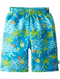 i play Classics Ultimate Swim Nappy Trunks for Boys (3-6 Months, Newborn, Aqua Turtle Journey)