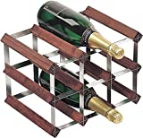 Wine Racks WNRK0014-Botellero para Vino Accesorio de 3x 2Madera de Pino-Montado de Acero galvanizado WNRK0014