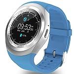 3,1cm yuvarlak Bluetooth Smart Watch telefon uzaktan kumanda ile sim TF kart yuvası adım sayacı uyku monitör alarm Touch...