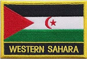 Western Sahara Flaggen Aufnäher/Patch, gestickt, zum Aufnähen oder Aufbügeln, exklusives Design von 1000 Flaggen