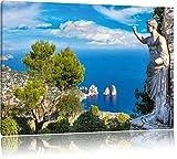 Insel Capri in Italien, Format: 120x80 auf Leinwand, XXL