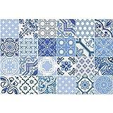 Ambiance-Live Pegatina baldosa hidráulica para Pared –Azulejos -20x 20cm–24Piezas