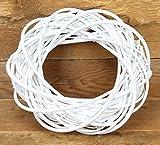 Exner Weidenkranz Dekokranz Türkranz shabby weiß natur 20cm - 40cm Shabby Weiß 35x10cm