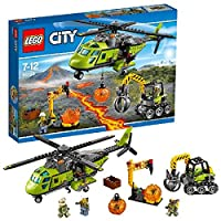 LEGO 60123 City In/Out Volcano Supply Helicopter Construction Set