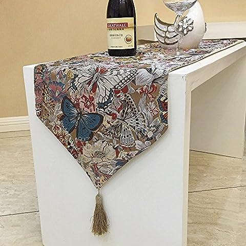 La spesa del classico unico continentale cuscino lungo tavolo a ferro di cavallo runner placemats tappezzeria Decorazioni di Natale Halloween-YU&XIN