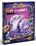 Noris Spiele Schipper 609240659 - Malen nach Zahlen, Delfine, 24 x 30 cm