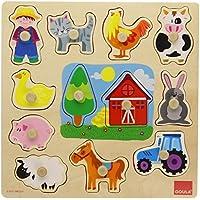 Goula Puzzle Siluetas Granja, 12 Piezas de Madera, (Diset 53025) - Peluches y Puzzles precios baratos