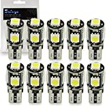 Safego 10 x LAMPADINE T10 W5W LED 194 168 cuneo Tipo 5 SMD 5050 bianco LED luci dell