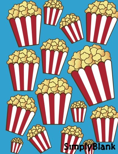 Popcorn Book for Kids - Writing & Drawing Book - Blank, Unruled Paper, with 50 Sheets (100 Numbered Pages) Book is 8.5