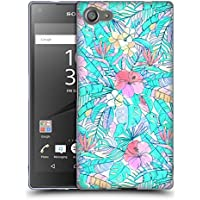 Official Micklyn Le Feuvre Pretty Pastel Hawaiian Florals Soft Gel Case for Sony Xperia Z5 Compact