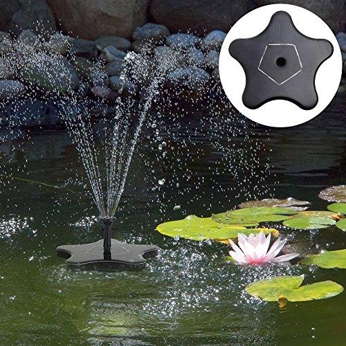 Außenleuchte, Solarleuchte, Gartenleuchte, Tragbare Korrede des Springbrunnens der Hydraulikpumpe, Sonnenlicht Modell des Sterns mit 7 W 1.4 V