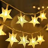 Cadenas de Luces Estrellas,DIKI Luces LED de Navidad luces de hadas 5m 40 estrellas, para bodas, árbol de Navidad, año nuevo,