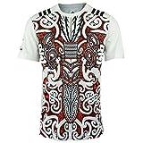 Adidas Men's Ab Maori Perf T T-Shirt, White/Blanco/Negro, X-Small