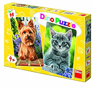 Dino Toys Dino Toys381360 Yorkshire and Kitten Puzzle (48 Piezas)