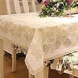 GAOYU Tischdecke (135Cm X 180Cm), hübsche Blumen-orientalische Blumenzweig-Blätter/Spitze-rechteckige Tischdecke-Abdeckung/wischende saubere Tischdecke