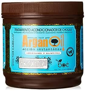 Doctor Cabello maschera all'olio di argan 454 grammi - fatta con 100% olio di argan vergine del Marocco bio, proteine della seta e pantenolo per una idratazione intensa e per capelli morbidi e idratati - maschera per capelli secchi