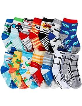 [Patrocinado]Lictin 14 pares antideslizante calcetines calcetines calcetines de niño talla 2 - 3 años de edad los niños surtidos...
