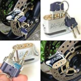 """Unpickable"" Anti-theft Dual Key Motorbike Motorcycle Scooter Moped Disc Brake Lock"
