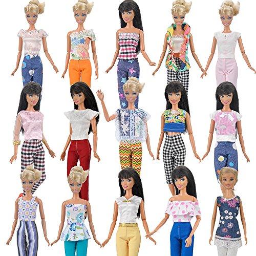 unkte 7 Kleidung Outfit 7 Hosen Hosen für Barbie-Puppe ()