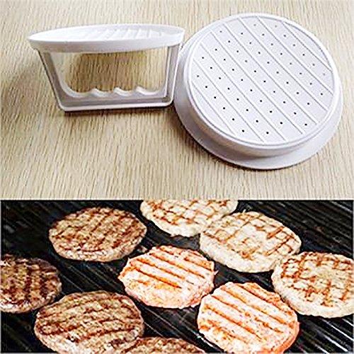 auykoop 2DIY Hamburger Fleisch Schöpfern Drücken Tool Fleisch Burger Maker Form Kunststoff Hamburger Burger Maker Kochen Tools