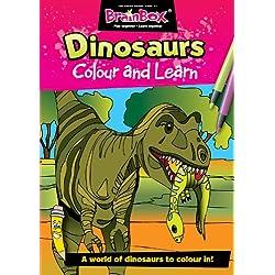 Green Board Games - Libro para colorear Dinosaurios (versión en inglés)