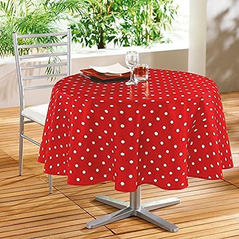 DecorLine Nappe Imprimé Lollypop Rouge/Blanc 160 cm