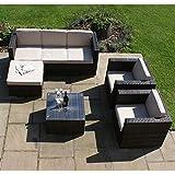 San Diego Dallas Baby Muebles de jardín de mimbre marrón Georgia Juego de sofá de