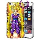 MIM Global Etuis Coque iPhone Dragon Ball Z Super GT Case Cover - Haute Qualite - Goku Rose - Goku Blue - Gohan - Vegeta Blue - Dbs - DBZ - DBGT (iPhone 5/5s/SE, Gohan SSJ2)