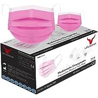 URUSANA 50 Stück Medizinische Masken Rosa OP Masken Rosa CE Zertifiziert EN14683 TYP IIR BFE ≥ 98% Rosa Pink…