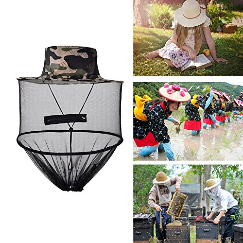 Anti-Mosquito Bee Bug Insect Fly Mask Cap Hat With Head Net Mesh Face Protection Outdoor Fishing Equipment For Activities New Fashion Sun Anti Mosquito Veil Protector Travel Camping Hats Colors Garden Operation