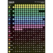 Der Springende Punkt 2019 schwarz - Terminplaner, Wandkalender, Bürokalender, Jahresplaner - 57,5 x 81 cm
