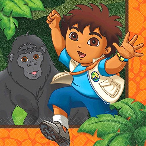 st Rescue Birthday Party Beverage Napkins, 5 x 5, Multi by Amscan (Go Diego Go Birthday Party)