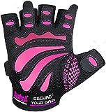 Guanti palestra, per sollevamento pesi da donnaMimi,proteggono le mani e migliorano la presa, colorerosa e nero,facili da mettere e togliere, misuraregolabile, Pink