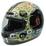 NZI 050265G682 Class Graphics Grunje Skulls Casco de Moto, Graffiti con Calaveras, Talla 57 (M)