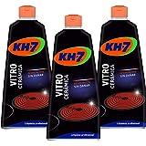 KH-7 | Crema para la Limpieza la Vitrocerámica | 3 Recipientes de 450 ml | Desincrusta y protege la vitrocerámica | No altera
