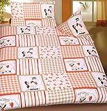 KH-Haushaltshandel Baby Kinder Sommer Bettwäsche 100 x 135 + 40x60 cm, Motiv: Pferd + Schaf, für Kinderbett, Microfaser (42920)