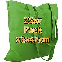 Cottonbagjoe Baumwolltaschen | 38x42 cm | unbedruckt | mit zwei langen Henkeln | bemalbar | Öktex 100 zertifiziert…
