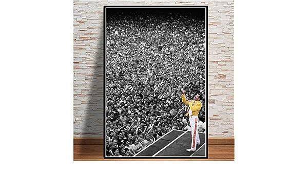 JWJQTLD Leinwanddruck Freddie Mercury Poster Und Drucke Bohemian Rhapsody Queen Wand Kunst Leinwand Gem/älde An Der Wand Bilder Wohnzimmer Home Decor
