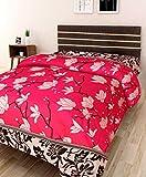 IWS 3D Printed 160 TC Polycotton Single Bedsheet - Floral, Multicolour