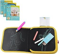 Portatile da disegno per bambini Reuseful lavabile Write and learn innovative Toy, gesso colorato Cloth Book Baby Early Learning graffiti tavolo da disegno educativo tre tipi consegna casuale