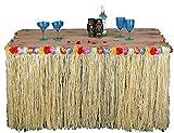 1m Hawaiian Table Skirt Grass Tropical Tiki Bar Garden Beach Summer Party Decoration