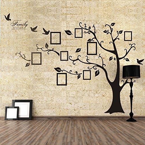 Missley DIY Fotorahmen Baum-Wand-Aufkleber Familien-Speicher-Baum-Kind wachsen Aufzeichnung (left, black) (Familie Baum-wand-aufkleber)