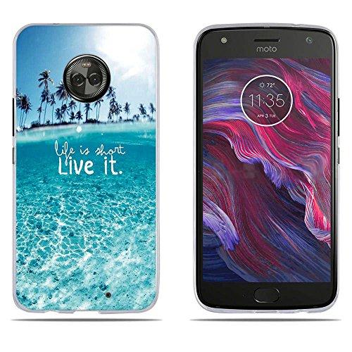 DIKAS Motorola Moto X4 2017/ Motorola Moto X4 / Moto X4 XT1900 Hülle, Transparentes Silikon Clear TPU Slim Fit Protector für Motorola Moto X4 2017/ Motorola Moto X4 / Moto X4 XT1900 (5.2