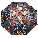 Batman-Ombrello a bolle da pulire fabric. colori brillanti, con motivo: batman graphics. impugnatura semplice è perfetta per le mani piccole e l'ombrellone è dotato di un pizzico meccanismo di apertura e chiusura.
