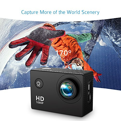 , VicTsing 2,0 Zoll HD 1080P Helmkamera - 4
