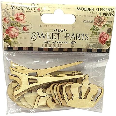 Dovecraft Sweet Paris Laser Cut elementos de madera